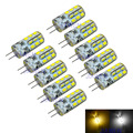 [ 10pcs/lot ] LED G4 Bulb DC12V 1.6W SMD3528 24leds  Whie / Warm White LED bulbs lamp
