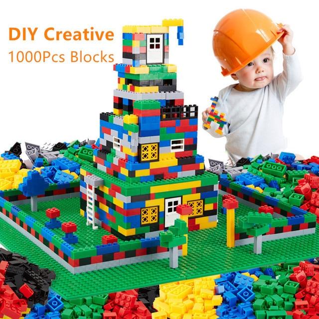 1000 piezas de bricolaje creativo ladrillos Compatible LegoINGs juegos de bloques de construcción amigos creador juguetes educativos para los niños