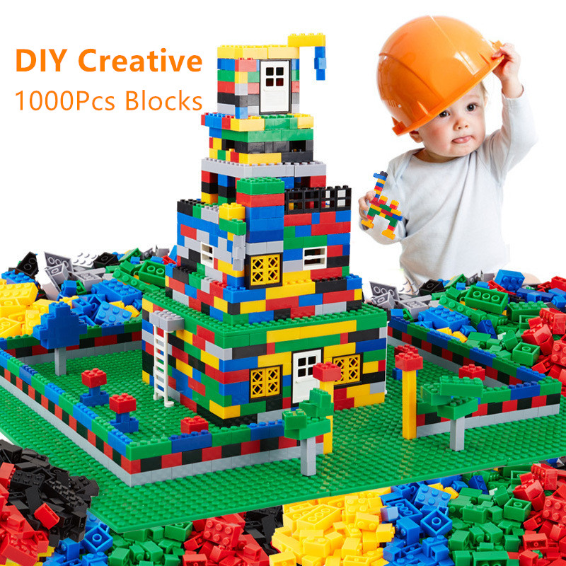 1000Pcs City DIY Creative Bricks Compatible LegoINGs Building Blocks Sets Friends Creator Educational Toys for Children