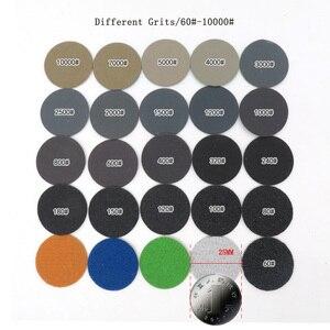 Image 2 - 100 pces 1 Polegada 25mm à prova dsandágua lixa discos gancho & loop carboneto de silício molhado/seco 60 a 10000 grit