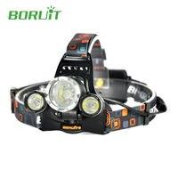 Powerful Boruit RJ 5000 Head Flashlight LED Headlamp XM L L2 4 Modes Waterproof 6000 Lumens