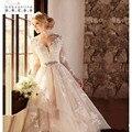 Свадебное Платье 2017 Новый Три Четверти Из Бисера Кружева Свадебные Платья Noivas Para Casamento Robe De Mariage Невесты Платья