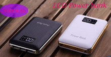 Recommend 20000mAh LCD Power Bank with LED light 3USB output External charger powerbank for mobile phone for outdoors