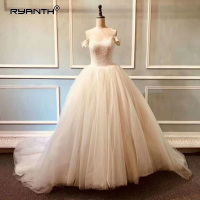 Puffy Robe de mariage Luxury Bling Bling Ball Gown Wedding Dress 2019 Vestidos de Novia Sparkly Princess Robe de Mariee