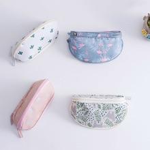 Portable Makeup Bag Brush Organizer Printed Zipper Travel Toiletry Case Cosmetic Bags for Women