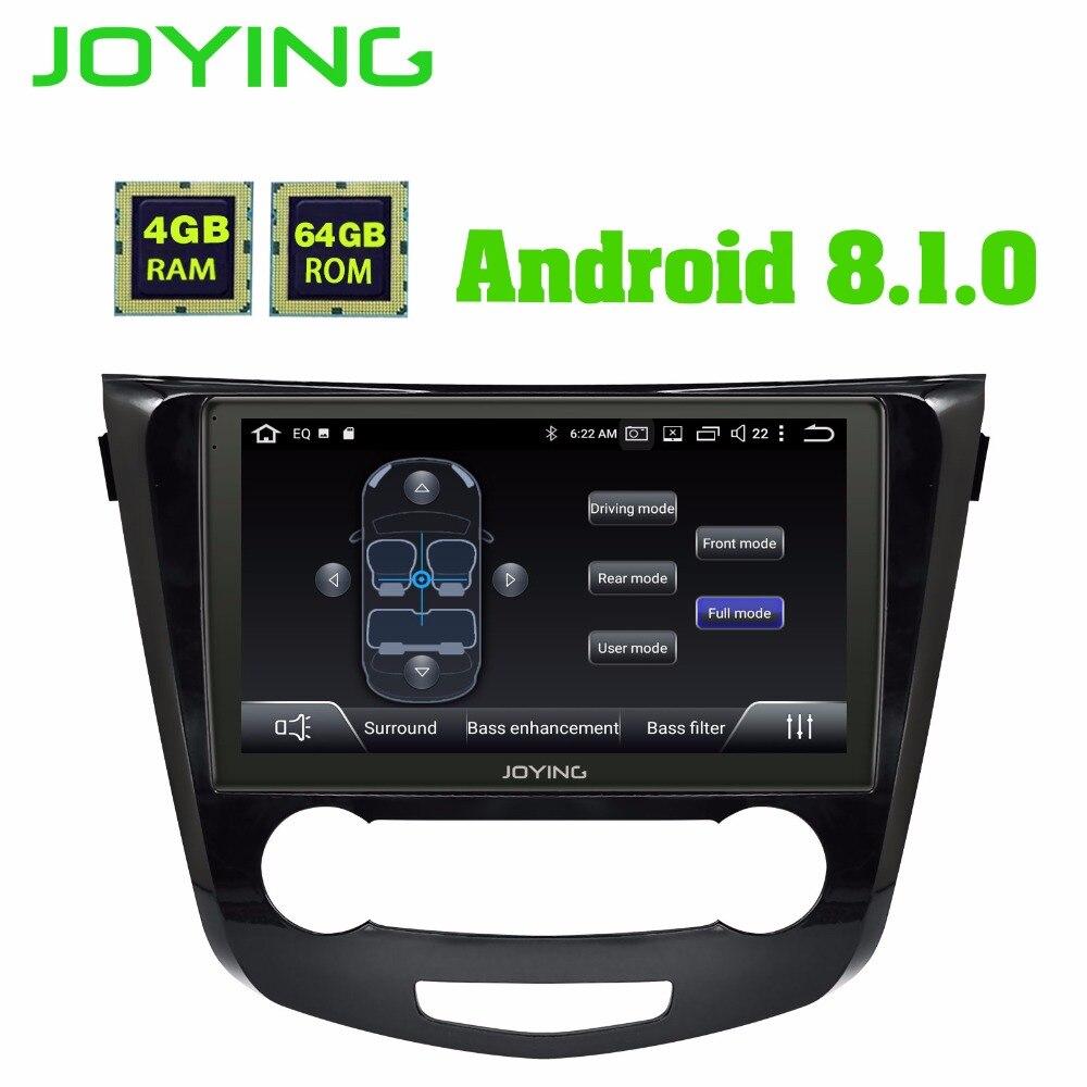 10.1 IPS Android 8.1 Voiture Radio Stéréo Octa Core 4 gb + 64 gb Tête Unité Pour Nissan Qashqai 2015 + Multimédia GPS Lecteur Buit-en DSP