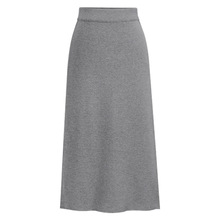 Womens Elastic Waist Plus Size A-line Skirts Hip Slim Long Loose Sheds Skirts Bowknot Skirts Large Size Knitted Skirts OLV1400