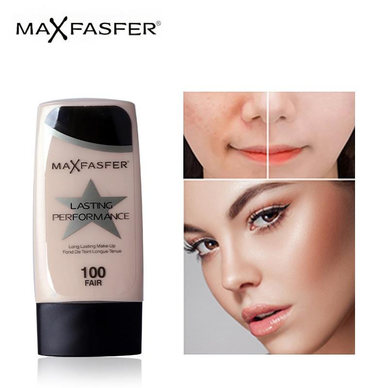 MAXFASFER baza podkład do makijażu płynny podkład nawilżający wodoodporny korektor wybielający rozjaśnić matowy długi trwały kosmetyk 1