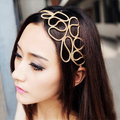 New Chic Metallic Gold Braid Braided Hollow Elastic Stretch Hair Band Headband DM#6