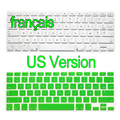 US Version French  Keyboard Stickers Retina Air Pro 13 15 17 inch Gradient Euro Layout Silicone Keyboard Cover for MacBook 13""