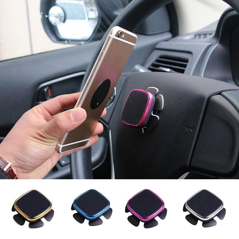 Rylybons Car Steering Wheel 360 Degree Rotating Magnetic Phone Holder Bracket Mobile Phone Holder For iphone Samsung Holder  steering wheel phone holder
