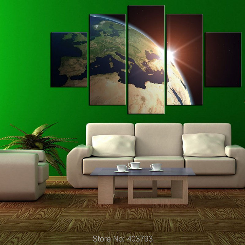 5 pieces high definition posters and prints printed oil painting the sun gives you light the moon gives you the romance the stars give you a dream we gives you the best life quality to enjoy yourself solutioingenieria Gallery