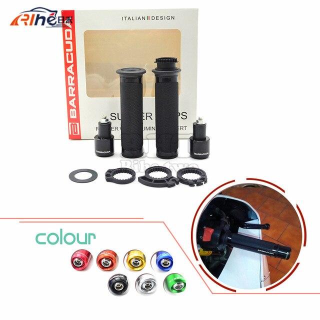"Wholesale BARRACUDA motorcycle CNC handlebar grip&handlebar ends black fit 7/8""22mm For yamaha R1 honda cb400 vtec mc22  cb750"