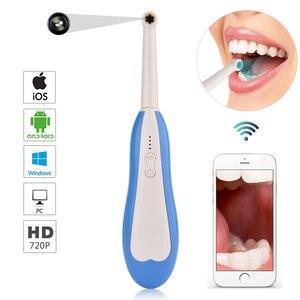 Image 4 - WiFi kablosuz diş kamera HD İntraoral endoskop led ışık izleme muayene için diş hekimi Oral gerçek zamanlı Video diş araçları