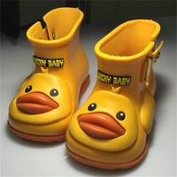 Boy Girl Rain Boots Child Infant Water Shoes Cute Duck Boots