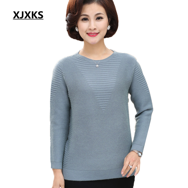 84a1377bf5f7 Detail Feedback Questions about XJXKS 2018 New Fashion Women Sweaters O  neck Knitted Pullovers Full Sleeve Spring Shirts Female Tops Casual Solid  Jumper on ...