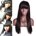 Full Lace Human Hair Wigs With Baby Hair Peruvian Virgin Hair Full Lace Human Hair Wigs With Big Bangs Glueless Full Lace Wigs
