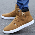 New Fashion British Style Men Casual Shoes 2017 Breathable Martin Boots Short Ankle Boots Men High Top Skate Shoe