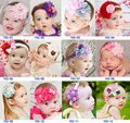 Free ship wholesale 10pcs baby's girls lace flower hairband headwear hair decoration party/festival