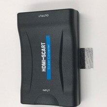 HDMI כדי Scart ממיר 1080P מתאם וידאו אודיו אות העברה באיכות גבוהה עבור DVD תיבה