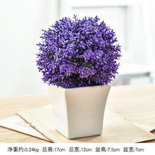Artificial Plants Bonsai Plastic Simulation Tree Desktop Pot Decorative Fake Flowers Leaves Garden Plant Decor