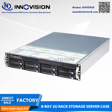 8bays 2U rack huge storage hot-swap server Case S26508,supporting max 12*13″ board