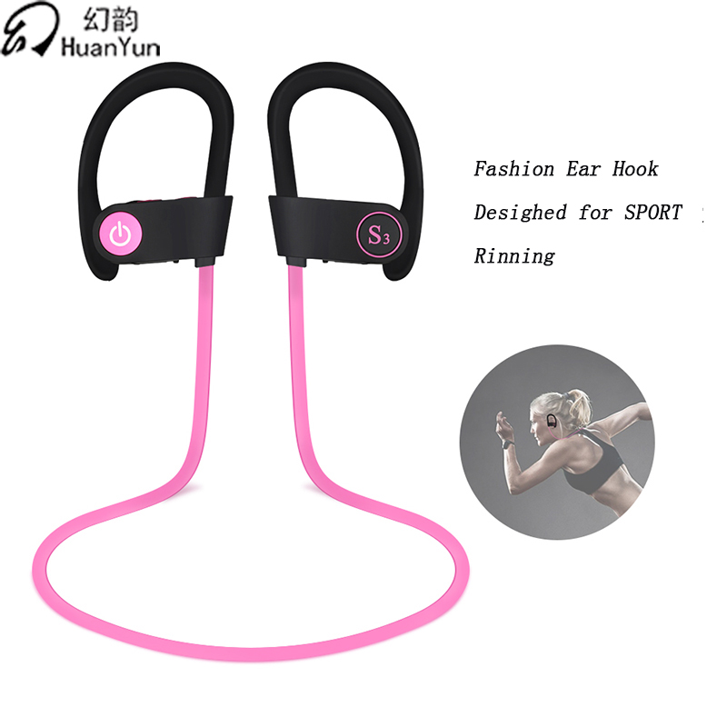 HuanYun Earphone Bluetooth Waterproof Running Stereo Sport 4.2  Headset with Mic Wireless Headphones In-ear for Moblie Phone
