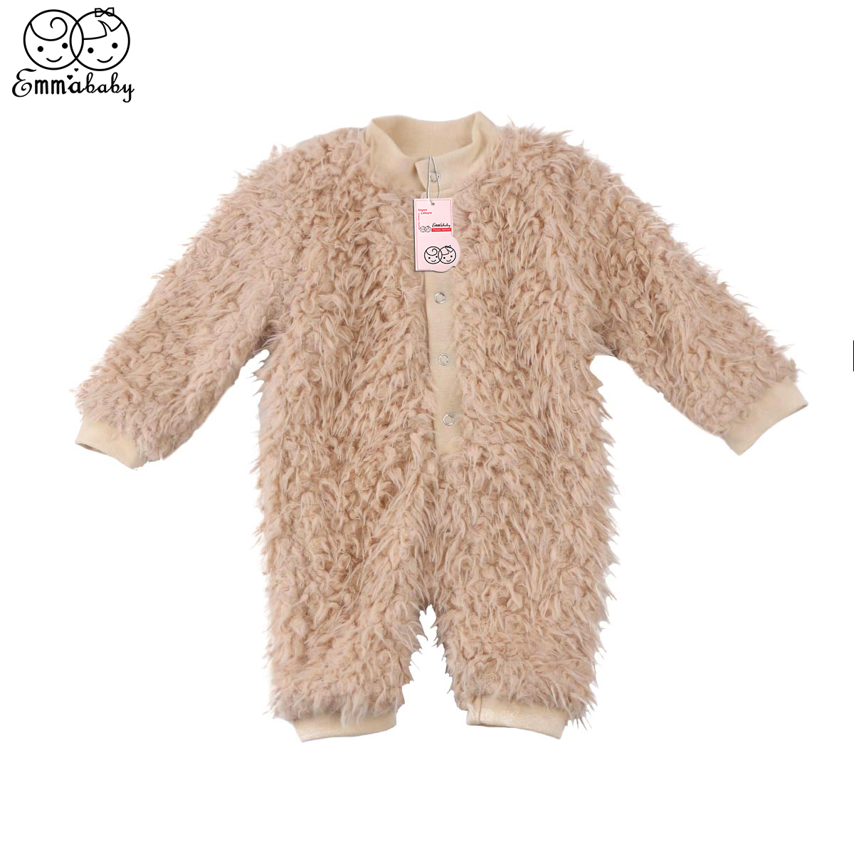 2018 new arrival winter warm fleece Rompers Newborn Baby Boy Girl Clothes long sleeve thicken Romper Jumpsuit One Pieces Outfits 3pcs set newborn infant baby boy girl clothes 2017 summer short sleeve leopard floral romper bodysuit headband shoes outfits