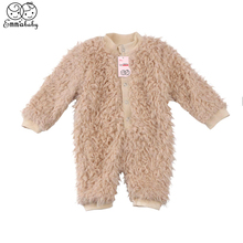 a6d5f40921f46 2018 new arrival winter warm fleece Rompers Newborn Baby Boy Girl Clothes  long sleeve thicken Romper