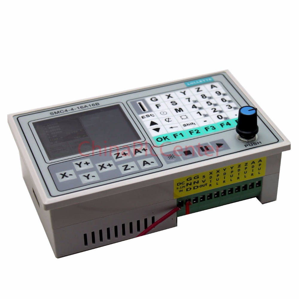 Free Shipping 50KHZ CNC 4 Axis offline controller Breakout Board Carving Engraving Machine Control System Card SMC4-4-16A16B