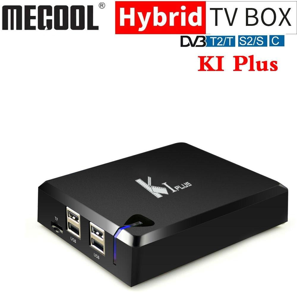 Mecool K1 PLUS Amlogic S905D QuadCore Smart TV BOX Android 7.1 DVB T2 DVB S2 DVB C 4 in 1 Combo TV Box KI PLUS 4K Media Player-in Set-top Boxes from Consumer Electronics    1