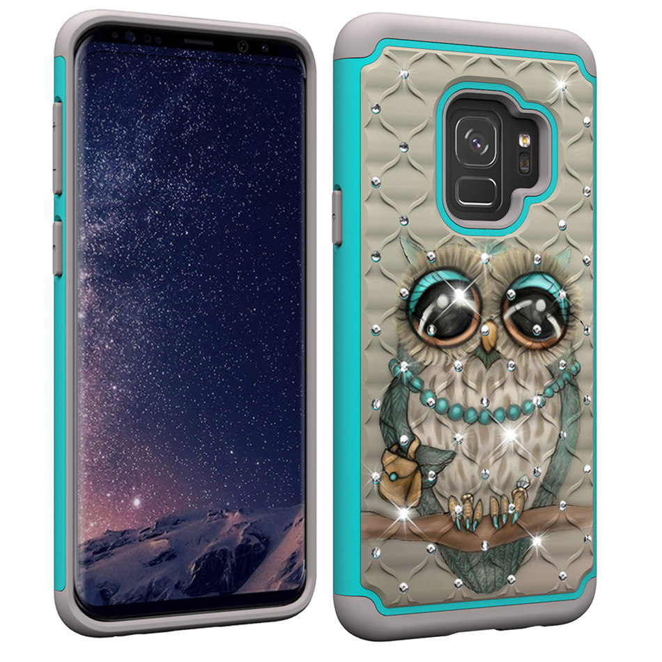 2 In 1 Bling Diamant Back Cover For Samsung Galaxy S10E S10 S9 S8 Plus J2 Core J3 J7 Prime A6 2018 Note9 Shockproof Case P03D