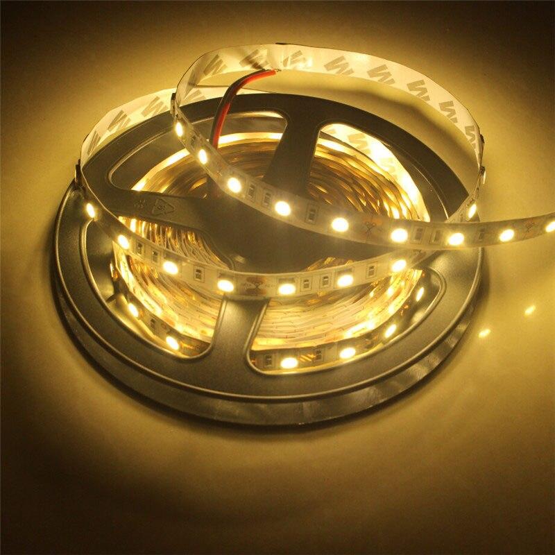 LED Strip,5M SMD5050,LED Strip Light Flexible Ribbon ,DC 12V 60 led/m LED Tape, White/Warm white Home Decoration