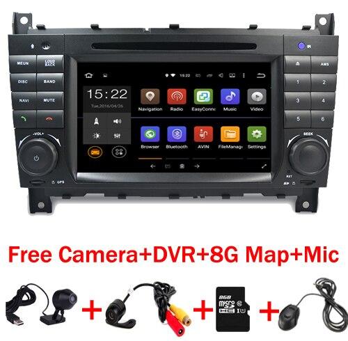 7 HD 1024x600 Quad core Android 7.1 Lecteur DVD de Voiture pour Mercedes W203 android C200 C230 C240 c320 C350 CLK W209 GPS Radio WiFi 3g
