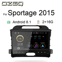 OZGQ Radio Car Android 8.1 9.0 System PX30 9'' IPS Screen Multimedia Stereo For KIA Sportage 2011 2015 Head Unit With AV Output