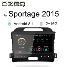 OZGQ Radio Car Android 8.1 9.0 System PX30 9'' IPS Screen Multimedia Stereo For KIA Sportage 2011-2015 Head Unit With AV Output