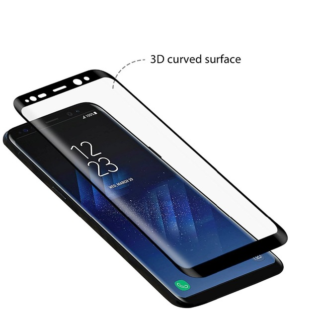 3D Original NFH Sensitive Reaction Tempered Glass For Samsung Galaxy S8 S8 Plus Screen Protective Protection Film Case On S 8 6