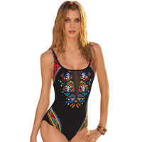 Female Swimsuit Dot One Piece Swimsuit Woman Swimsuit Whole Suit 2017 Vintage Triangle Swimsuit