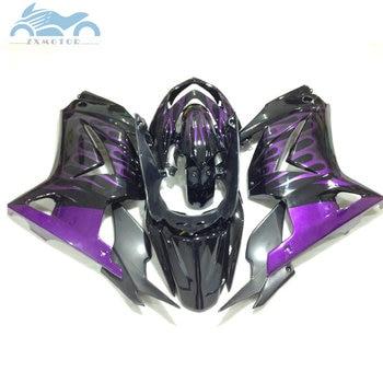 Injection fairings kit for Kawasaki 2008-2014 Ninja 250R ZX250 motorcycle fairing kits EX250 08 09-14 purple flames body parts