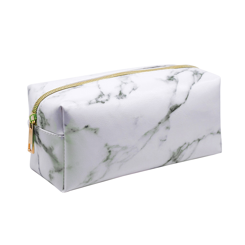 Marble Cosmetic Bags Makeup Pencil case Beauty Toiletry Zipp