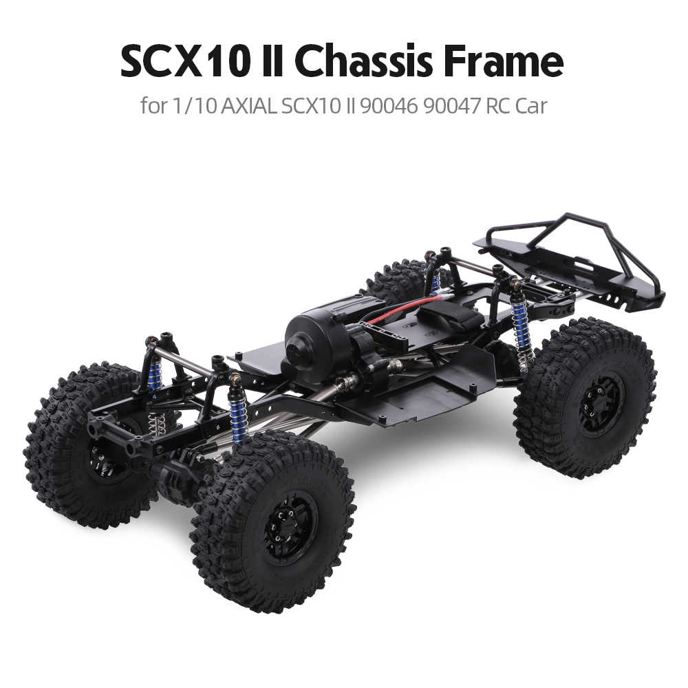 AUSTAR 313mm Wielbasis Chassis Frame Met 540 35 T Brushed Motor voor 1/10 AXIALE SCX10 II 90046 90047 RC crawler Klimmen Auto DIY