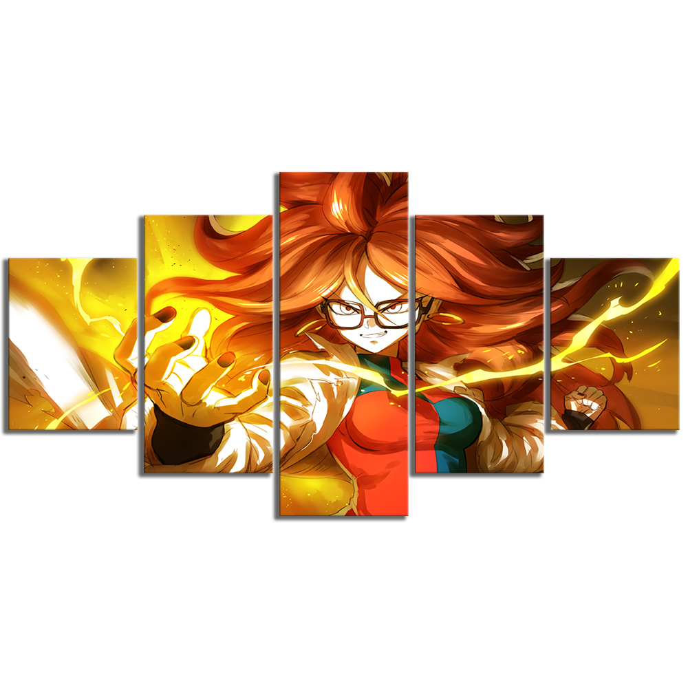 5 Piece Canvas Art Android Dragon Ball Fighter Z Video Game Poster HD Wall Paintings for Bedroom Decor 3