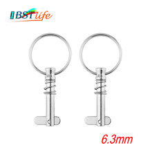 2 pcs 6.3mm Stainless Steel 316 Quick Release Pin with ring for Boat Bimini Top Deck Hinge Marine hardware(China)