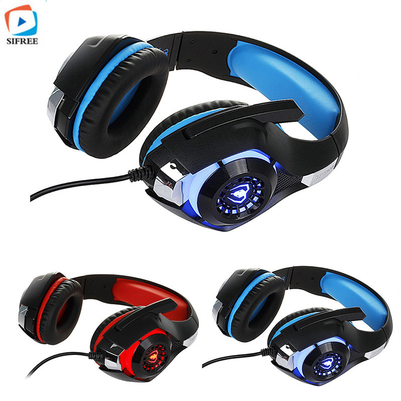 Newest GM-1 Gaming Headset Gamer for PS4 Tablet Laptop 3.5mm Headband Led Light PC Headphones  fone de ouvido with Microphone kotion each g2000 gaming headset pc gamer headphones headphone for computer auriculares fone de ouvido with microphone led light