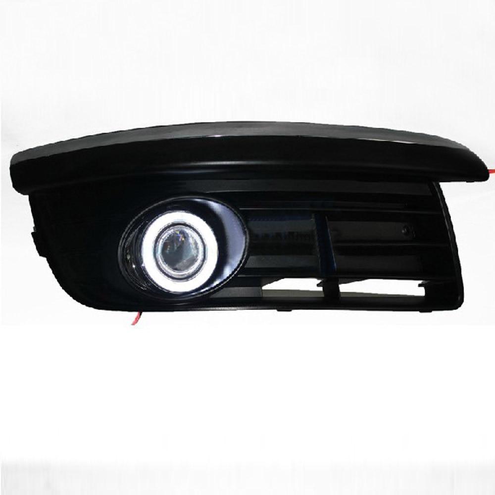 DRL angel eye ( 6 colors ) + projector lens + halogen fog lamp for volkswagen VW Jetta Sagitar golf 5 variant 2006-2010 2x 9006 hb4 led projector fog light drl 12w no error for volkswagen golf 6 mk6 2011 2012 scirocco 08 on t5 transporter 2003 2016