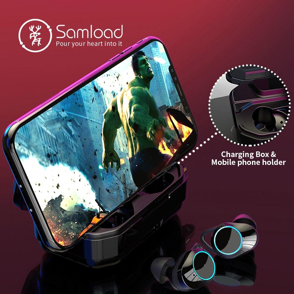 Samload Bluetooth 5.0 Écouteurs Intra-auriculaires HiFi Vrai Sans Fil Casque avec 3300 mAh Boîte De Charge Powerbank Pour iOS Android téléphone - 4