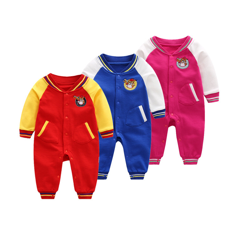 2018 New Baby Clothes Spring Autumn Newborn Baby Girl Clothing Baseball Boys Clothes Jumpsuit Girl wear