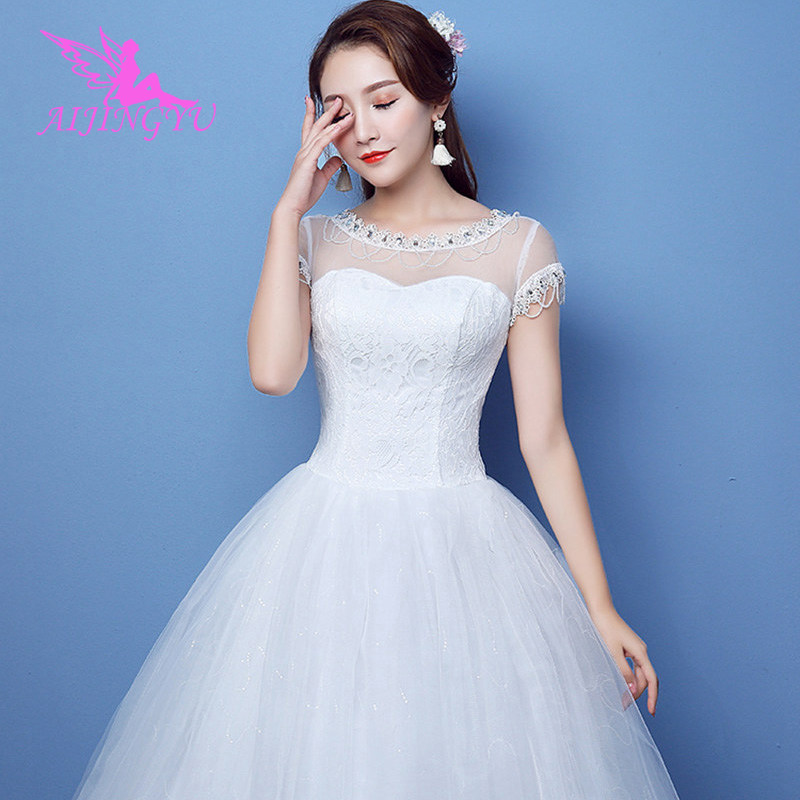AIJINGYU 2018 girl free shipping new hot selling cheap ball gown lace up back formal bride dresses wedding dress FU299