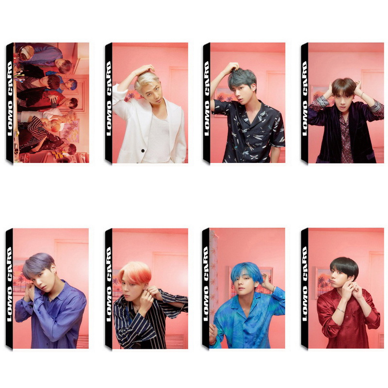 Costume Props Twice Transparent Card What Is Love Kpop Bts Bangtan Boys Love Yourself Tear Album Paper Poster Photo Lomo Card Hf212