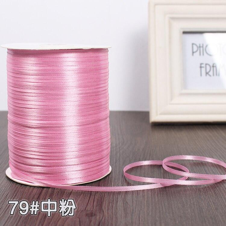 3 мм атласная лента 22 м/лот DIY ручной работы, товары для рукоделия, свадебные, для дня рождения, подарочная упаковка, белые, розовые, бежевые, кремовые ленты